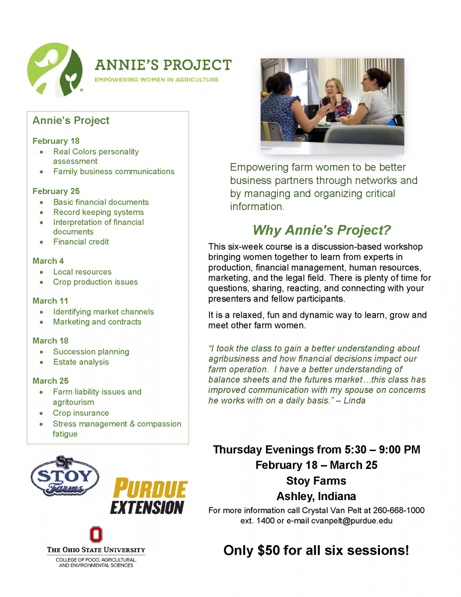 Annie's Project Flyer