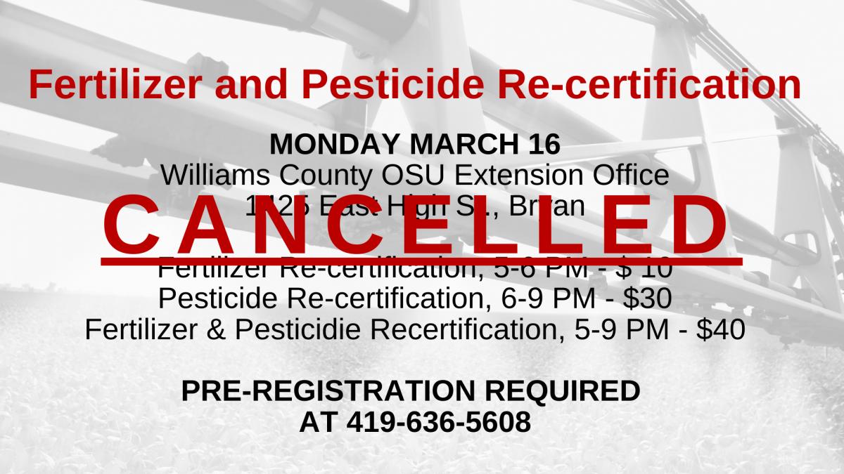 pest recert cancelled