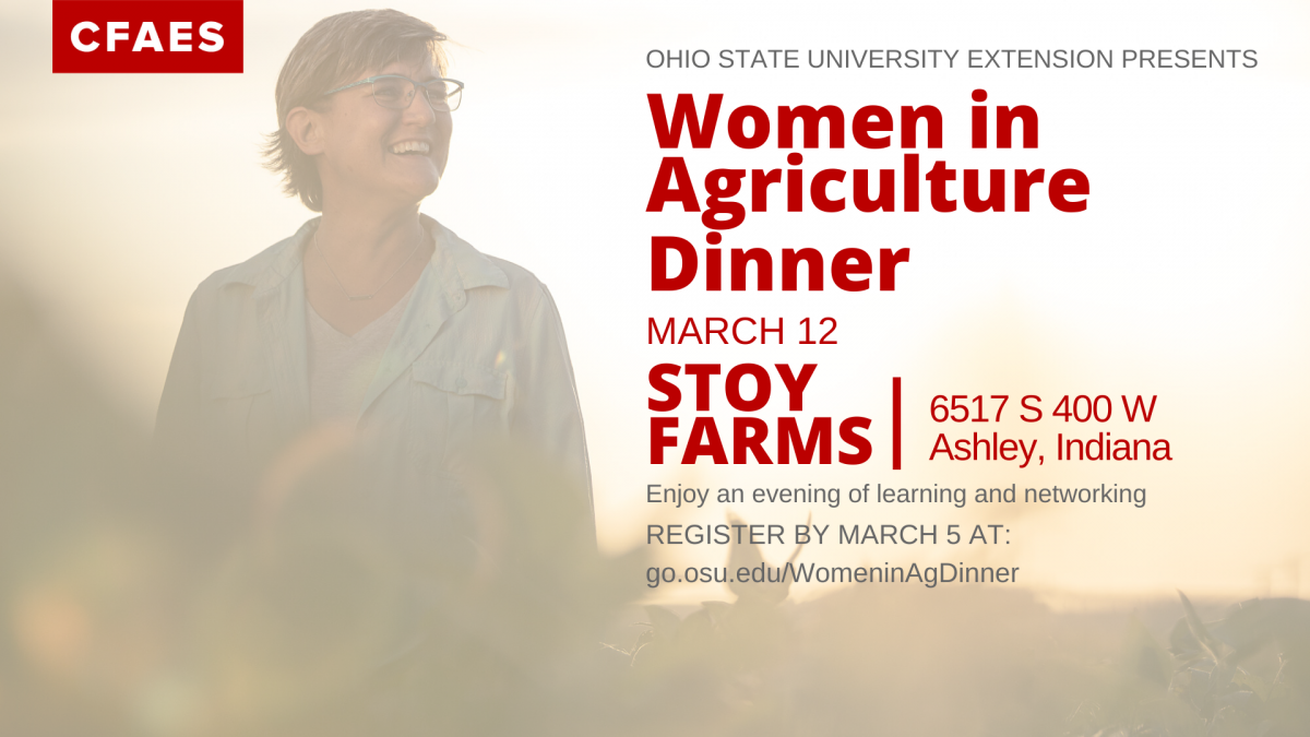 Women in Ag Dinner on March 12