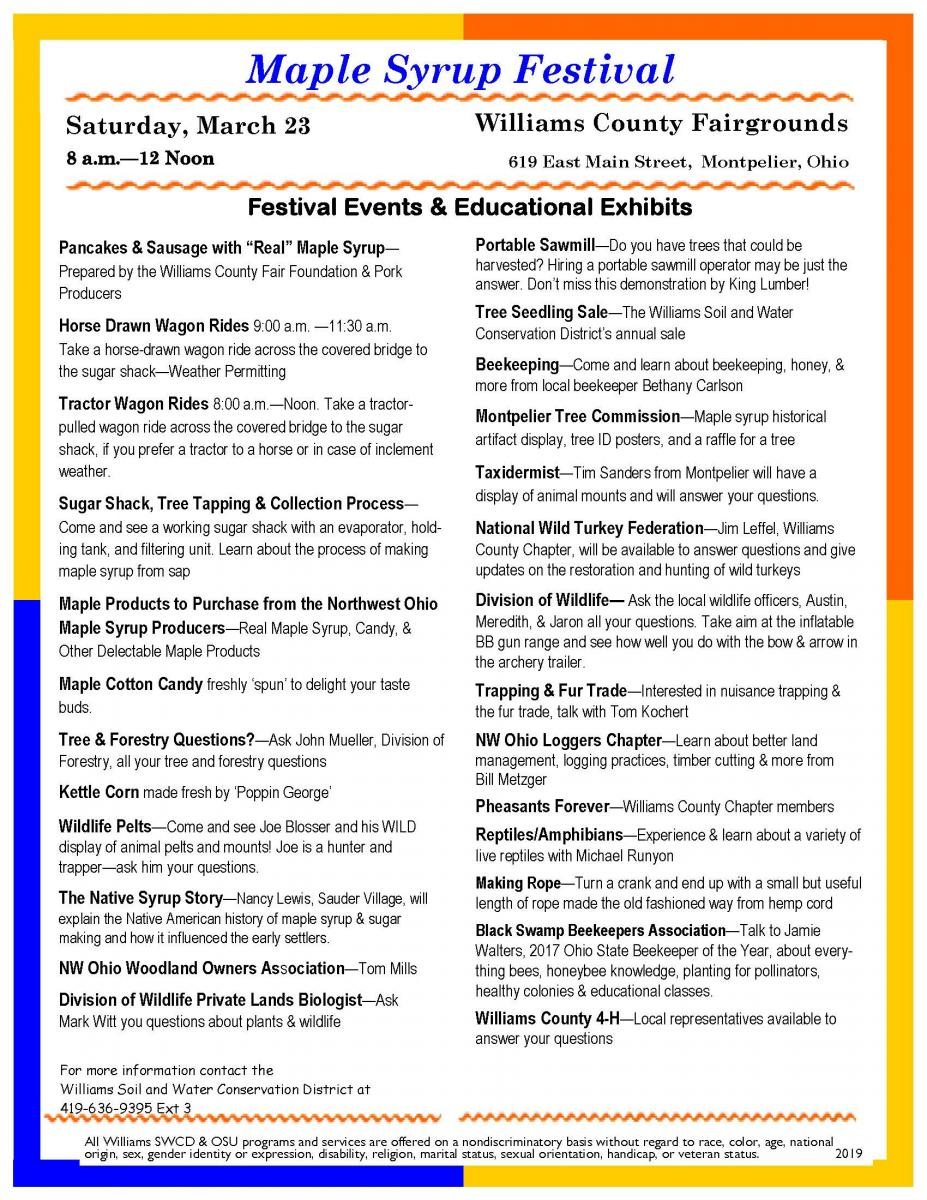 Maple Syrup Festival Events & Education