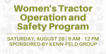 graphic advertising women's tractor operation and safety program